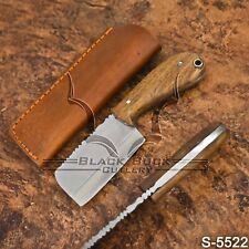 5522 | Black Buck's High Carbon Steel FULL TANG Mini Cleaver Knife l W/Sheath