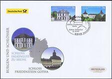 BRD 2018: Schlösser in Gotha und Brühl Post-FDC selbstklebende Nr 3388+3389 1806