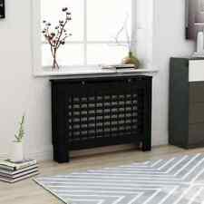 vidaXL Radiator Cover Black MDF Heater Cover Cabinet Heating Shelf Household