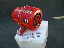 NEW SMALL RED METAL VINTAGE STYLE SIREN , CAR TRUCK !
