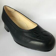 Equity Georgina Navy Court Shoe EEEE Fitting 4E Leather/Patent Detail Size 4