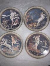 Rochard Limoges Set Of 4 6� Plates Mythology Mercurius Mars Venus Apollo