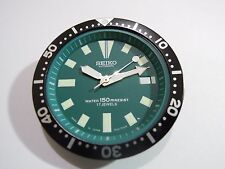 NEW SEIKO REPLACEMENT GREEN DIAL / HANDS / INSERT FOR SEIKO 7002 DIVER'S WATCH