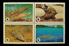 PALAU 1994 ESTUARINE CROCODILE WWF SET MNH