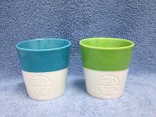 Starbucks TAZO Porcelain Bone China SET OF 2 Tea Cups Mugs 2012 NWOT