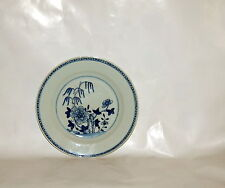 Antique Chinese Export Porcelain Willow Tree Flowers Dinner Plate Qianlong