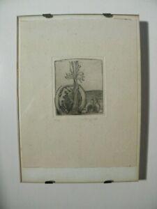 Schöne kleine Vintage Radierung - Signiert und datiert 1978 - Auflage 2/30