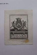✒ EX LIBRIS Mr de Bourguignon Dumesnil - armorié XVIIIe