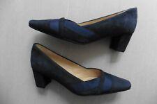 Neuf - Chaussures femme La Scarpa escarpins daim bleu marine orné ruban T 36