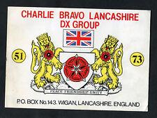 Dated 1985 QSL Radio Card - Charlie Bravo Lancashire DX Group - Wigan
