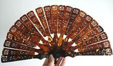 Eventail chine Chinese fan ventaglio facher tortoise shell