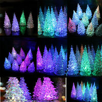 Cute Props Christmas Tree Home Decor Party Crystal LED Light Lamp Acrylic Gift