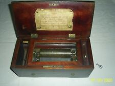 New ListingAntique 1800's Music Box 4 Airs Lever wind
