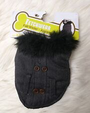 """FETCHWEAR Dog COAT Size XX Small for  6-8"""" Fur Collar NWT"""