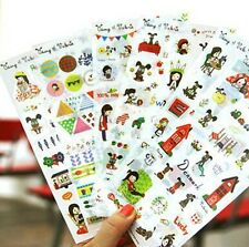 6X Cute Cartoon DIY Sticker My Story With Dog Deco Diary Albums Scrapbooking Tag