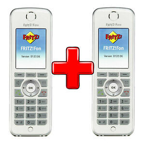 2 Stück AVM Fritz!Fon C4 Mobilteil mit neu Akku DECT für Fritz!Box 20002624