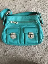 Marc Jacobs Green Leather Zipper Closure Double Strap 5 Pocket Tote Handbag