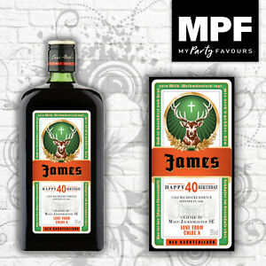 Personalised Birthday Jager Bottle Label - All sizes - Novelty Gift!