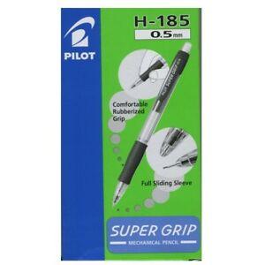 PILOT SUPER GRIP MECHANICAL PENCIL H-185 0.5mm BLACK 1DZ.