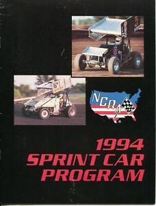 NCRA Sprint Cars Auto Race Program 1994-Shane Carson-Mike Chadd-Gary Wright-VG