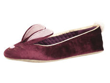 Ted Baker Women's Bhunni Burgundy Velvet Slippers Shoes