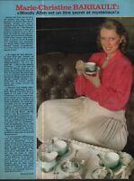 Coupure de presse Clipping 1980 Marie Christine Barrault   (1 page)