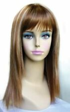 CHSW040 long fashion brown mix blonde white straight hair wigs health women wig