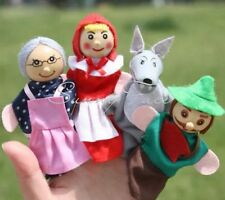 Little Red Riding Hood Lot Of 4 Finger Puppet Toy Dolls 10cm US Seller