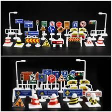 28pcs/Set DIY Educational Model Scene Car Road Signs Traffic Kids Learn Toy Gift