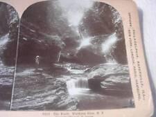 """The Pools"" Watkins Glen NY c.1901 Stereo Card"
