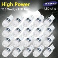 20X T10 LED W5W High Power Wedge Car Dome Light Bulb 192 168 194 Super White 12V
