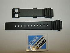 Cinturino Casio Originale Gomma Caucciù Nero Ansa 18 Mm. Modello MRW-200H
