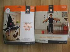 Halloween Costume Kits Owl Accessories & Felt Witch Hat Ages 3-4+ 2 Kits NEW