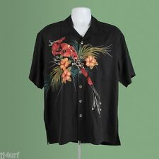 Hawaiian Shirt, Silk, Campshirt Stealth, Black, SZ S From Frogman Tim Cotterill