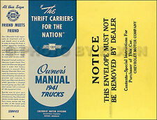 1941 Chevy Pickup and Truck Owners Manual with Envelope 41 Chevrolet Owner Guide