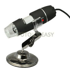 2.0MP USB Digital Microscope 50x ~500X Loupe vidéo Caméra w/8-LED Software