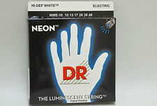 DR Luce Nera Corde the luminescent STRING WHITE nbe-10 completo set di 6 saitig