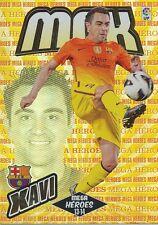 N°382 XAVI # MEGA HEROES ESPANA FC.BARCELONA CARD PANINI MGK LIGA 2014