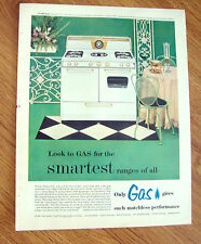 1955 Kitchen Gas Range Ad    Florence Automatic Gas Range