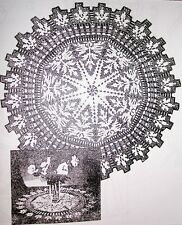 650 Antique Filet DOILY Pattern to Crochet (Reproduction)