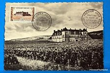 CHATEAU CLOS VOUGEOT  1952 France Carte Maximum Yt 913