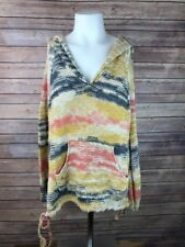 Free People Womens Hooded Sweater Size XS V Neck Long Sleeve Pocket