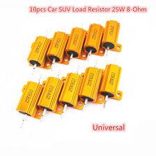 Gold 10pcs Kit Car Autos Load Resistor 25W 8-Ohm Fix LED Bulbs Fast Flash Blink