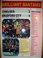 Chelsea 2 Bradford City 4 - 2015 FA Cup - souvenir print