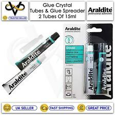 More details for araldite adhesive crystal tubes 2 x 15ml ideal for durable bonding and repairs