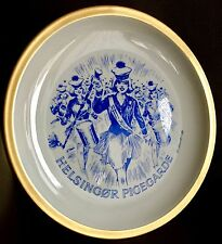 Signed Danish Helsingor Pigegarde/Elsinor Girls Marching Band Lyngby China Plate