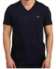 LACOSTE PIMA JERSEY V-NECK TENNIS TEE MARINE - NAVY COLOR SIZE 4 - S NWT