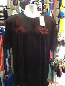 Adidas Mexico Parley Prematch Black Red Jersey 2018 Men's Size XL Men's Only