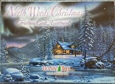 Leanin Tree Christmas Greeting Cards 20 Card Box Set North Woods Christmas