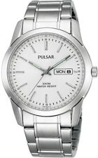 PULSAR PJ6019X1 Stainless Steel Day Date 100M WR Watch, 2 Year Guar RRP £69.95